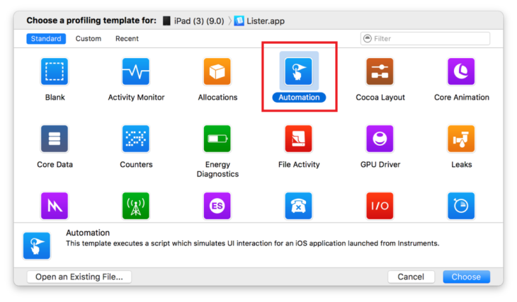 iOS UI automation